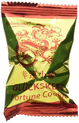 Diamond Glückskekse, einzeln verpackt Goldfolie, 250er Pack (250 Stück à 6 g)
