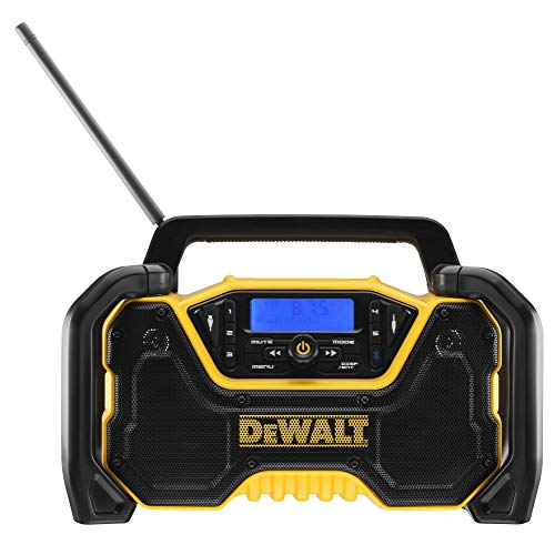 DEWALT XR - Radio a batteria e rete DCR029 (DAB+ e radio FM stereo, alloggiamento estremamente robusto, con Bluetooth, display digitale retroilluminato, fornito senza batteria e caricatore)
