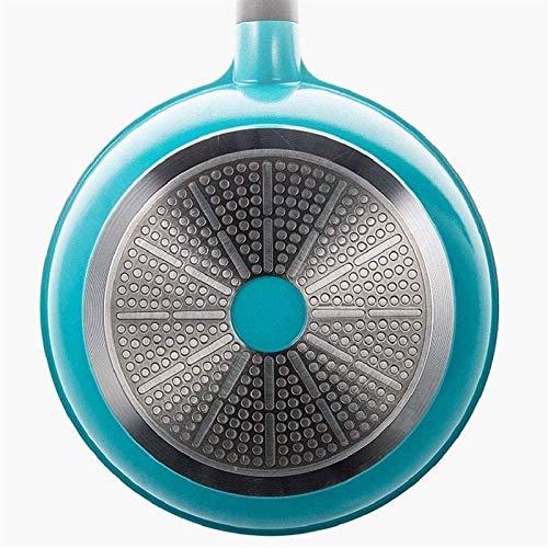 HNSXR Sartén antiadherente, ideal para cocinar huevos o tortillas, apto para lavavajillas, horno, sartén azul, cocina del hogar