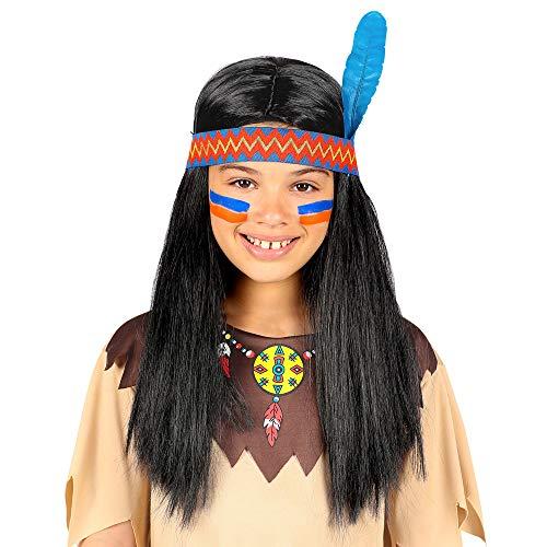 WIDMANN 46932 Indianerperücke Jungen Schwarz