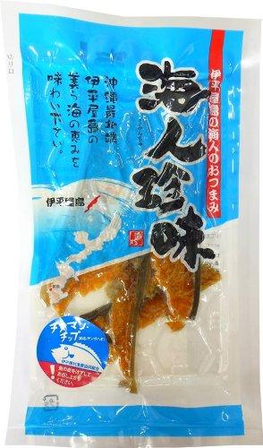 伊平屋島の海人珍味 チヌマンチップ 20g×3P 伊平屋村漁業協同組合 チヌマンをシンプルに塩だけで味付けして燻製にした海人のおつまみ 素材そのものの味をいかした沖縄の珍味