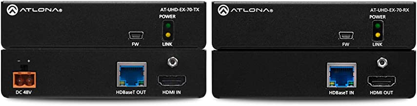 Atlona, UHD-EX-70-KIT, Over HD Base, 4K/UHD HDMI, TX/RX with PoE