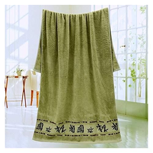 JINSUOZY DXXLD Home - Toalla de bambú suave de fibra de bambú de 70 x 140 cm, toalla de baño para la playa, baño, toalla de rizo para niños, adultos, casa (color: verde, tamaño: 2 piezas 34 x 74 cm)