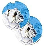 Caroline tesoros del azul Bulldog Inglés Set De 2cup Holder coche posavasos lh9364bucarc, 2,56, multicolor