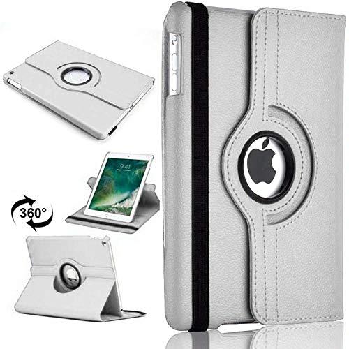 360 Leather Rotate Stand Case Folio Cover For Apple iPad Mini 1/2/3 (Silver)