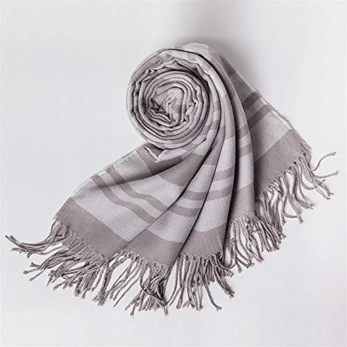 ULIULINH damesjaal, gestreept, zacht, kasjmier-sjaal, voor koud weer