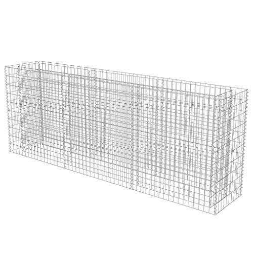 vidaXL Gabionen Pflanzkorb Verzinkter Stahl 270x50x100 cm Hochbeet Steinkorb