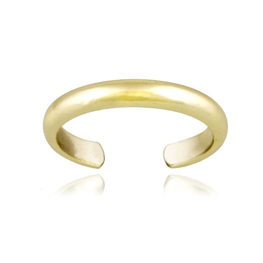 Hoops & Loops Sterling Silver High Polished Plain Simple Toe Ring