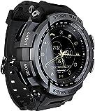 CNZZY MK28 Orologio intelligente da uomo con promemoria di chiamata Bluetooth Smart Watch Activity Tracker per uomo e donna, orologio fitness contapassi alpinismo impermeabile (B)