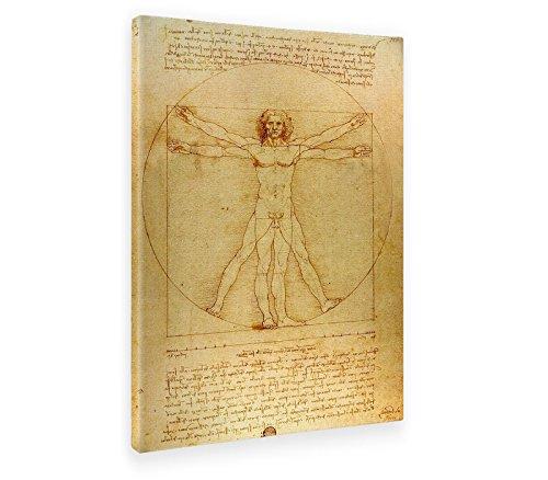 Giallobus - Bild - Druck AUF LEINWAND - Leonardo DA Vinci - DER VITRUVIANISCHE Mann - 70 x 100 cm