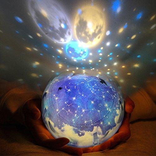 Magic Star Moon Planet Projecteur Lampe Cosmos Univers Bébé Pépinière Lumière Pour Cadeau D'Anniversaire