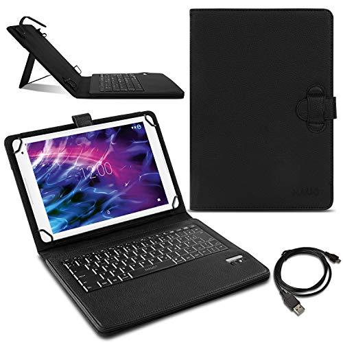 Nauci Bluetooth Tastatur für Medion Lifetab P10610 Tablet Schutzhülle QWERTZ Hülle