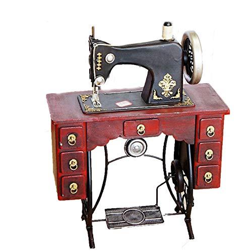 TWW Modelo De Máquina De Coser De Hierro, Hoja De Hierro, Decoración Artesanal, Regalo para El Hogar, Modelo De Máquina De Coser Suave, Decoración del Hogar