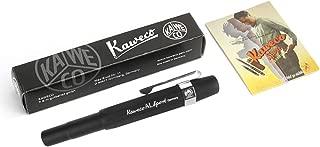Kaweco AL Sport Fountain Pen Black, Fine Nib with Kaweco Sport Octagonal Clip Chrome