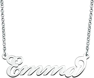SexyMandala Personalized Name Necklace Initial Necklace Customized Sterling Silver Original Font Pendant Jewelry Same Day Shipping Gift for Women