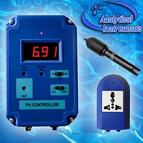 OCS.tec PH-Controller PH-Regler CO2-Wert Aquarium Koi Süß- und Salzwasser Mini-PH-Elektrode P18