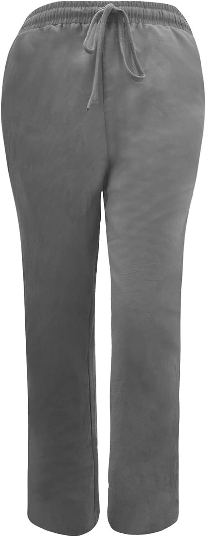 MIVAMIYA Women's Comfy Palazzo Pants Drawstring Wide Leg Pants Elastic Waist Lounge Pajama Bottoms Casual Trousers