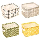 ZhengYue 4 Pack of Folding Aufbewahrungskorb, Small Baby Linen Storage Organizer Sets Plastic Storage Box Organizer