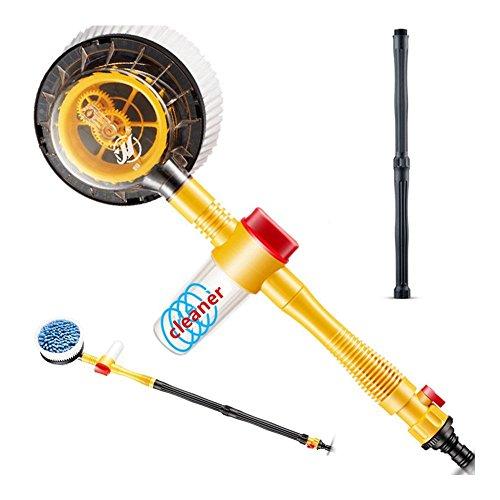 FireAngels, spazzola a rotazione automatica con spruzzo d'acqua, flusso schiuma, spazzola ad alta pressione per pulire l'auto