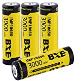 Best 18650 Battery Button Tops - 4X 18650 Battery Li-ion 3.7v Rechargeable Battery 3000mAh Review