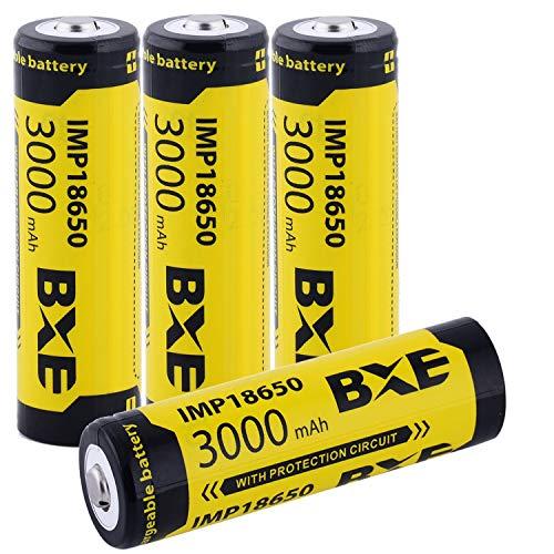 4X 18650 Battery Li-ion 3.7v Rechargeable Battery 3000mAh 18650 Button Top Battery for Flashlight 18650 Rechargeable Battery 18650 3.7v rechargeable battery button top