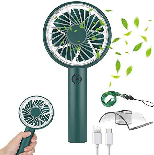 ZYW para El Hogar Oficina Viaje Al Aire Libre Ventilador USB Mini Desktop Fan Buckeye Pandheld Fan 4 Speed Portable Fan Mini Desktop Fan Mute,Verde
