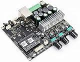 Placa de amplificación de subwoofer arílico, WiFi y Bluetooth 5.0 50WX2+100W Placa de amplificación multisala estéreo Clase d para Altavoz DIY-Amplificador 2.1