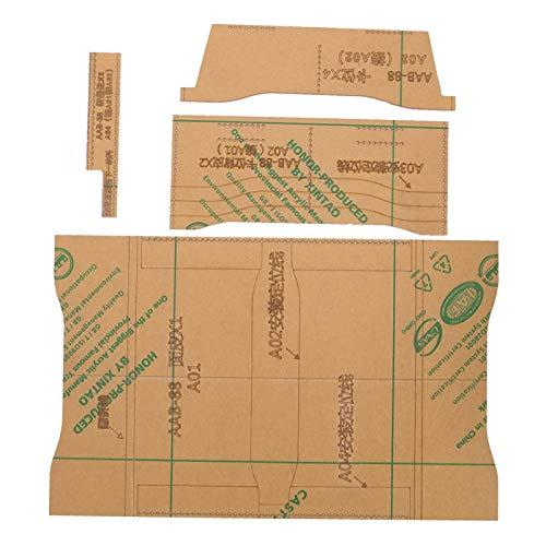 Brieftasche Acryl Vorlage Reißverschluss Brieftasche Handtasche Herstellung Schablone, für Lederschneiden Crafts Brieftasche Vorlage