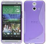 ENERGMiX Silikon Hülle kompatibel mit HTC One E8 Tasche Hülle Gummi Schutzhülle Zubehör in Violett