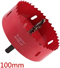 Hole Saw Blade for Cornhole Boards Aluminum Iron Pipe Wood Bi-Metal Holesaw Drill Bit Hole Saw Cutter 3-15/16