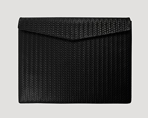 Ledertasche Macbook Air 13 Zoll Retina Display Braid Paperbag in schwarz