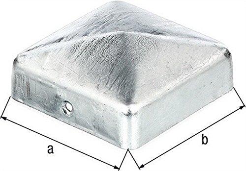 Pfostenkappe Pyramide Edelstahl VA 71x71mm