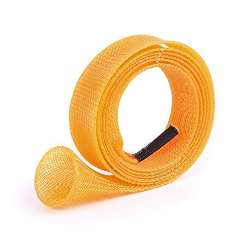 Bolsa protectora para cañas de pescar, de Cutogain. De malla. Protege cañas de pescar spinning, naranja