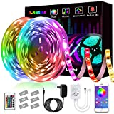 Tiras LED,L8star Luz de Tira LED Smart 5050 Control APP, Sync con Música Multicolor, Kit de Luces LED Funciona Luces Decorativas para Navidad y Fiestas