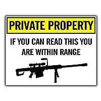 Private Property Sniper Gun 金属板ブリキ看板警告サイン注意サイン表示パネル情報サイン金属安全サイン