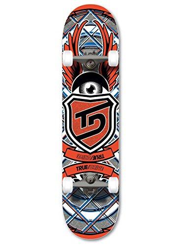 True Drive, Skateboard, Rosso (- rot)