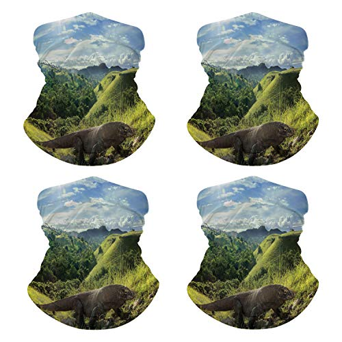 Neck Gaiter Wild Komodo Dragon in Its Mouth Mask for Cycling NN-127497