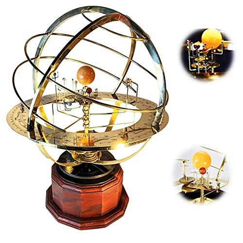 Grand Orrery modelo del sistema solar, Tower Orrery modelo 3d de Science Art, modelo estático de la órbita del planeta, decoración del modelo del sistema solar mecánico retro, para la decoración