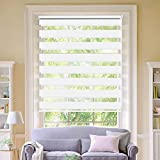 LUCKUP Horizontal Window Shade Blind Zebra Dual Roller Blinds Day and Night Blinds
