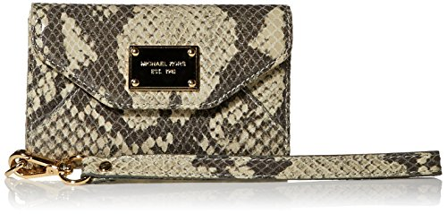 Michael Kors Natural Python Leather Wristlet Wallet Case Clutch Purse for Iphone 3 and 4