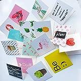 10 unids / set tarjetas de felicitación de cumpleaños de dibujos animados en blanco postal de felicitación de Año Nuevo Mini tarjetas creativas tarjeta de Navidad