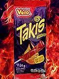 Chamoy Flavored TAKIS FUEGO Lollipops 1 Box ( 18 lollipops ) Mexican Paleta