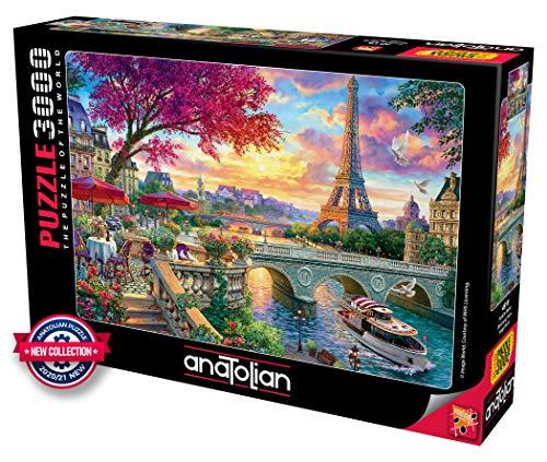 Anatolian Puzzle 3000 Teile - Frühling in Paris - Puzzle Größe 120cmx85cm (H)