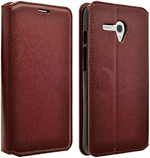 COVERLABUSA Comptiable for Jitterbug Smart Case, Coverlab Luxury PU Leather Wallet Flip Protective Case Cover with Card Slots and Stand for Jitterbug Smart 5.5 (Brown)