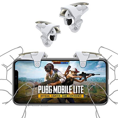 Newseego PUBG Mobile Game Controller Trigger, L1R1 Controller per telefoni cellulari Trigger Stile Armatura Pulsante sensibile di tiro e Mira per Regole di Sopravvivenza Android e iOS(Bianco)