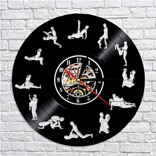SKYTY Sexualmente Sensual Posición Experiencial Reloj De Pared Diseño Retroiluminación Relojes Negro Hollow Watch 3D Decoración Arte Decoración para El Hogar con Led 12 Pulgadas