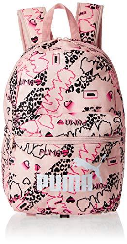 PUMA Phase S Backpack Rucksack, Peachskin-Girls AOP, OSFA