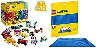 レゴ(LEGO) クラシック アイデアパーツ<タイヤセット> 10715 & クラシック 基礎板(ブルー) 10714