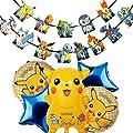 Cumpleaños Pokemon - ZSWQ Pikachu Fiesta Globos Helium Foil Globos Pokemon Pikachu Globos de Fiesta Aluminio Globo para Decoración de Fiesta de Pokemon Team por ZSWQ