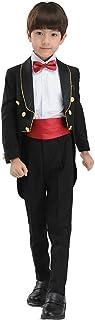 HIMOE フォーマル タキシード 男の子 ブラック/ホワイト 演出 ピアノ演奏会 結婚式 入学式 卒業式 入園式 卒園式 礼服 発表会 (130サイズ, ブラック)